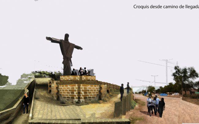 Plaza y via crucis en Fuerte Esperanza